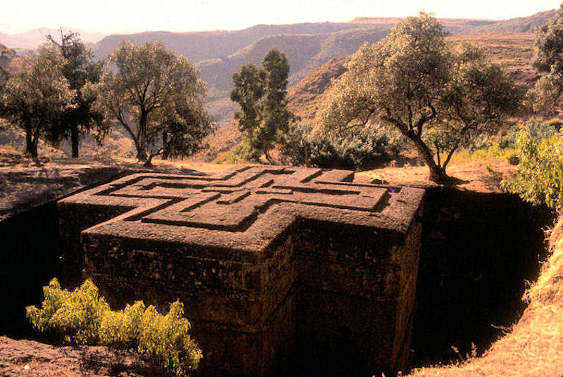 Stone Church at Lalibela, Ethiopia