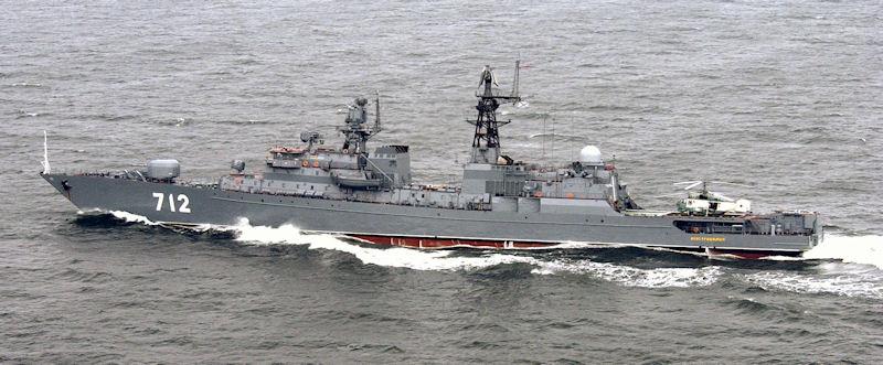 Russian Frigate Neustrashimy